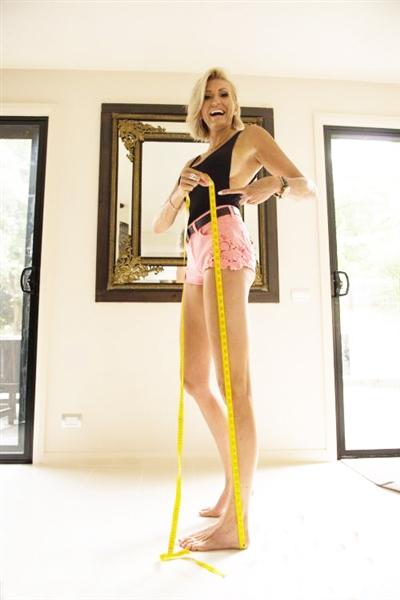 澳大利亚模特腿长1米3